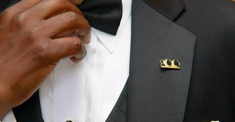 The 100 Lapel Pin